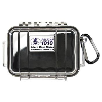 Clear Pelican 1010 Micro Case with Black Liner