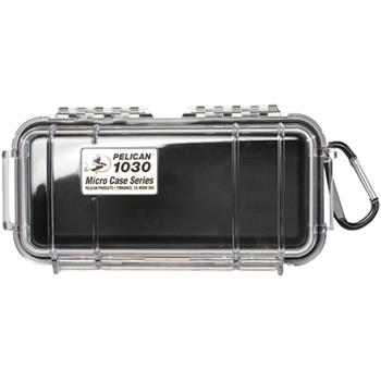 Clear Pelican 1030 Micro Case with Black Liner