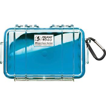 Clear Pelican 1040 Micro Case with Blue Liner