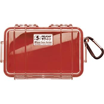 Clear Pelican 1040 Micro Case with Red Liner