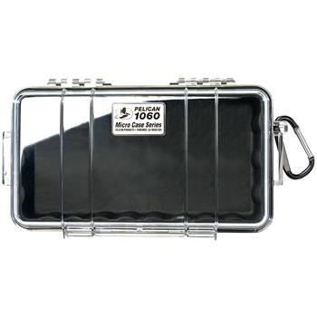 Clear Pelican 1060 Micro Case with Black Liner