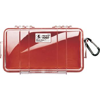 Clear Pelican 1060 Micro Case with Red Liner