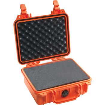 Orange Pelican 1200 Case with Foam