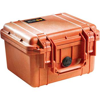 Orange Pelican 1300 Case with No Foam