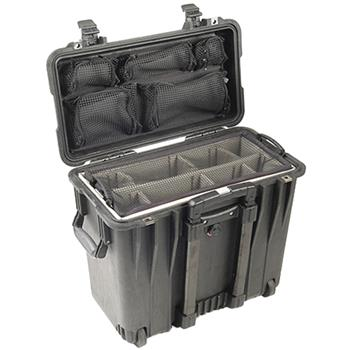 Black Pelican 1440 Top Loader Case with Utility Dividers & Lid Organizer