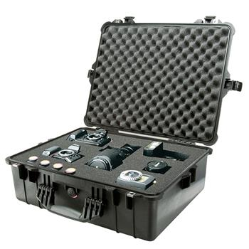 Black Pelican 1600 Case with Foam (Contents Shown not Included)