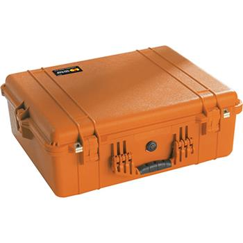 Orange Pelican 1600 Case with No Foam
