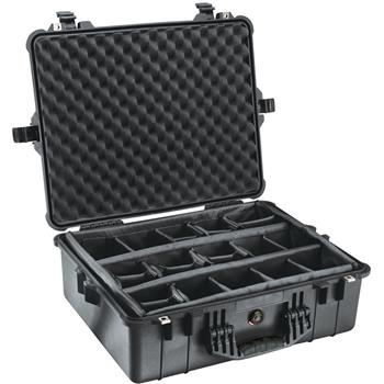 Black Pelican 1600 Case with Padded Dividers
