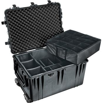 Black Pelican 1660 Case with Padded Dividers