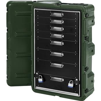 Olive Drab 8 Drawer Case