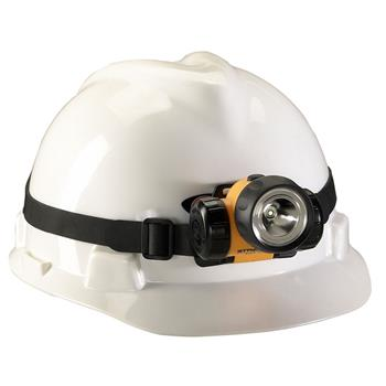 Streamlight 3AA HAZ-LO LED Headlamp with rubber hard hat strap