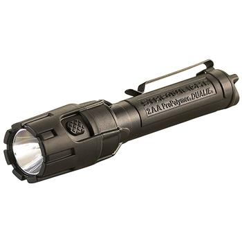 Black Streamlight Dualie 2AA LED Flashlight