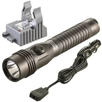 Streamlight Strion DS HL rechargeable flashlight with DC charge cord and one base