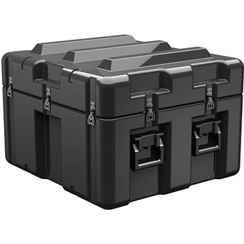 Black Pelican AL2624-1205 Single Lid Cube Case - No Foam with Casters