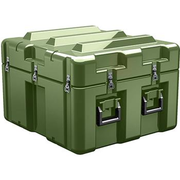 Olive Drab Pelican AL2624-1205 Single Lid Cube Case - No Foam with Casters
