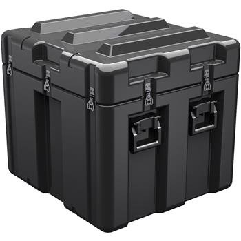 Black Pelican AL2624-1805 Single Lid Cube Case - No Foam with Casters