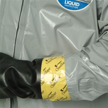 Chemical Resistant Tape attaches and seals protective clothing components