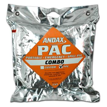 Andax Pac Combo Emergency Spill Kit with PPE