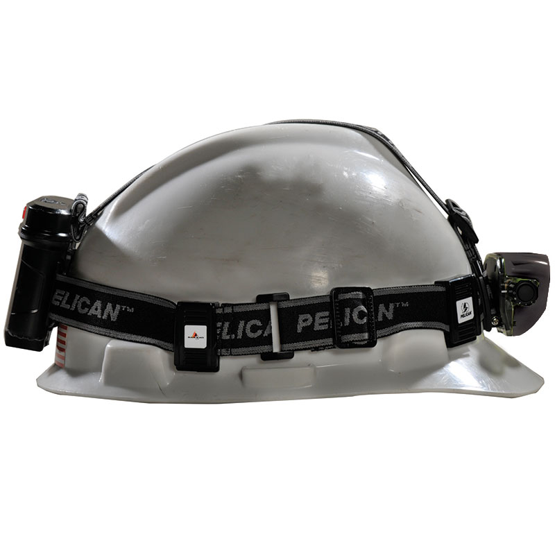 The Pelican 2785 LED Headlamp is hands free