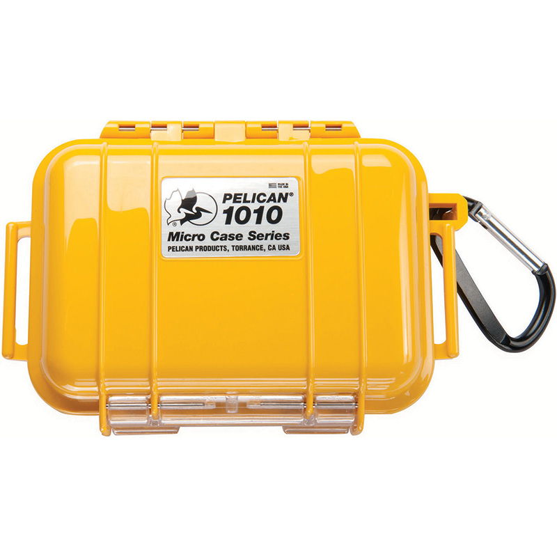 Pelican 1010 Micro Case Yellow With Black Liner Lowest Prices