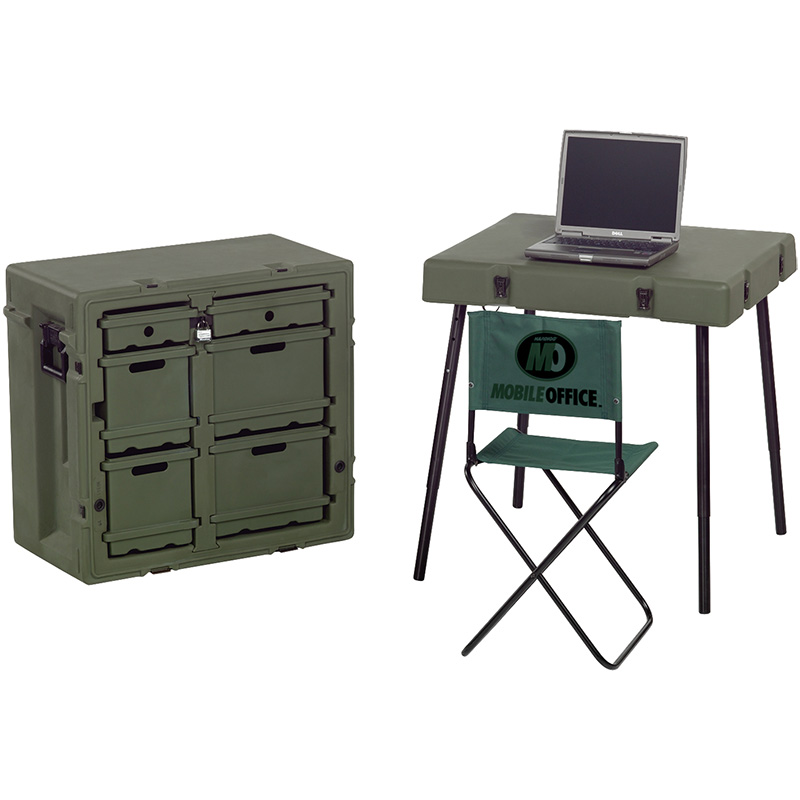 Pelican Administrative Field Desk with Chair & Table ...