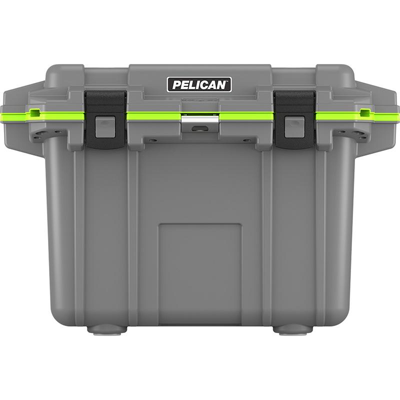 Green Styrofoam Coolers ~ Pelican qt elite cooler dark gray with green trim