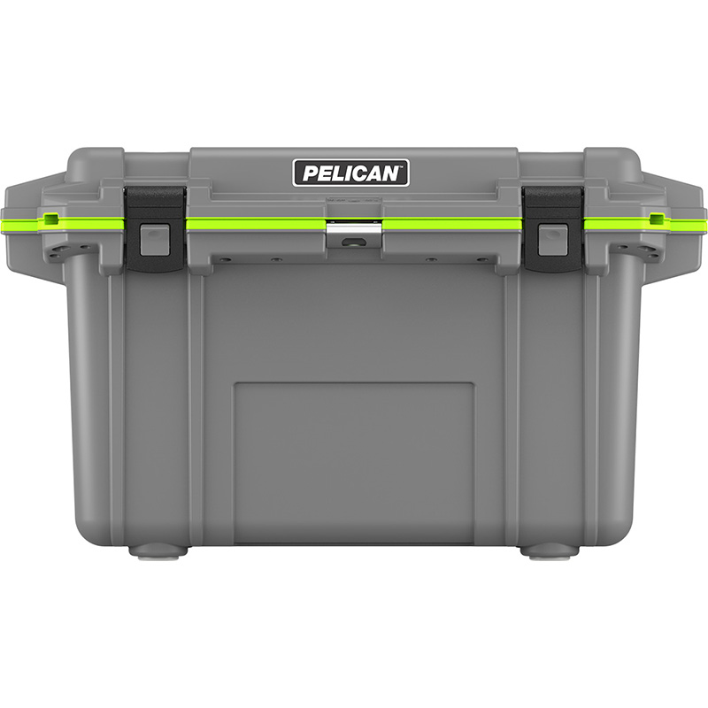 Pelican 70 Qt Elite Cooler - Dark Gray with Green Trim | LOWEST PRICES