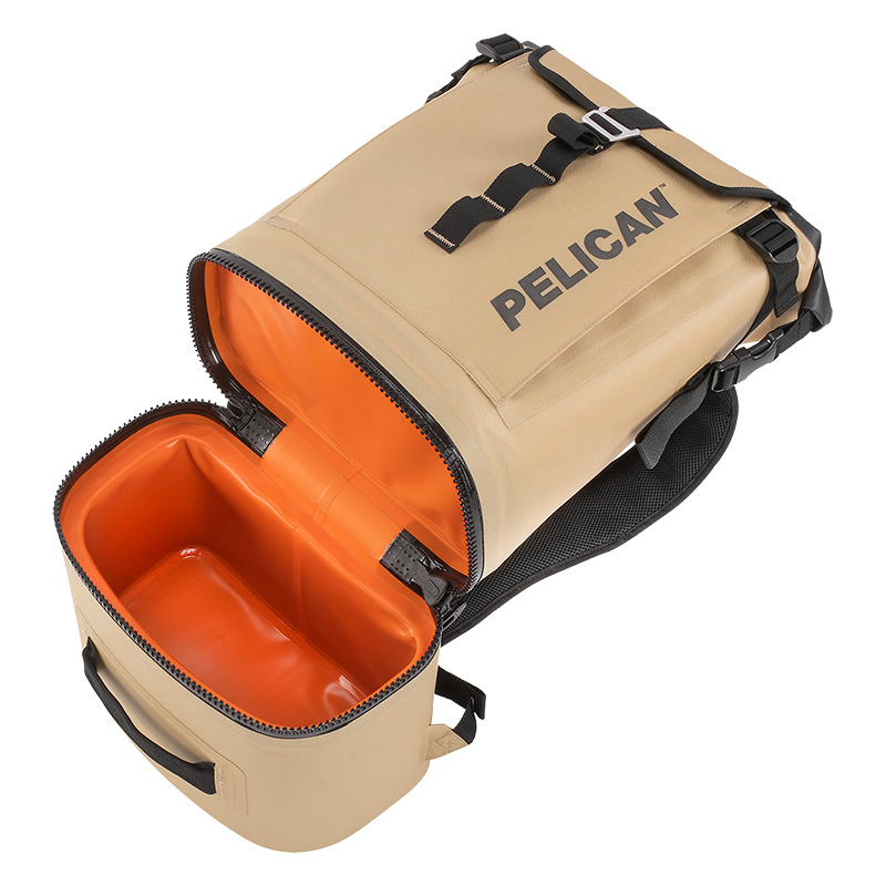 Pelican™ Dayventure Backpack Cooler has a dedicated cooler compartment