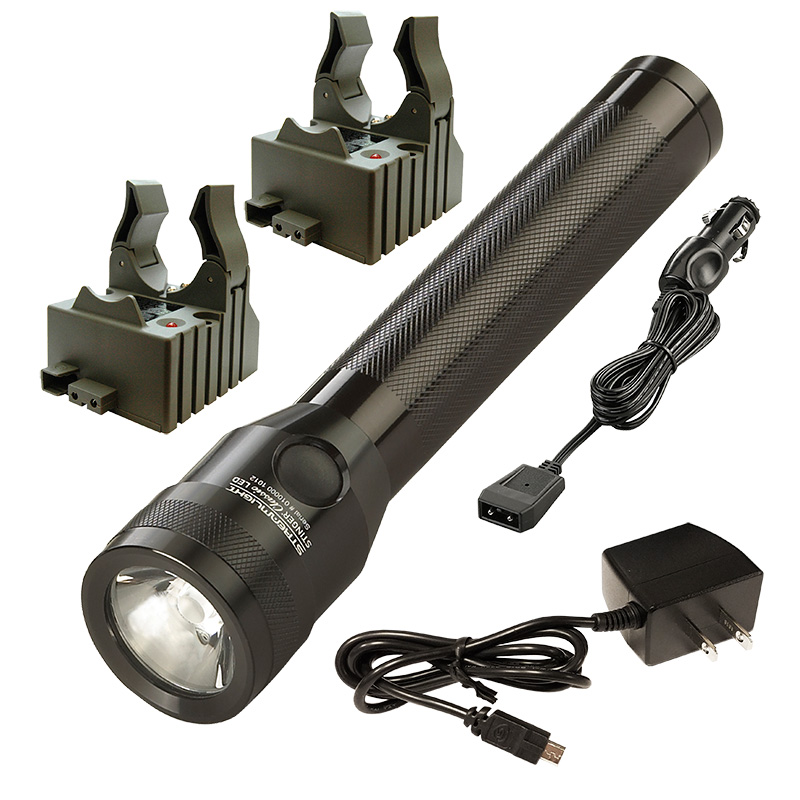 Streamlight Stinger Classic LED Flashlight with AC/DC Cords and 2 Bases