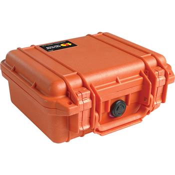 Orange Pelican 1200 Case with No Foam