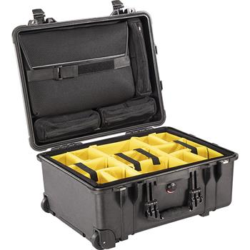 Black Pelican 1560SC Studio Case with Padded Dividers