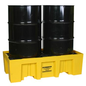 High Profile 2-Drum Spill Containment Pallet