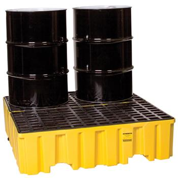 High Profile 4-Drum Spill Containment Pallet