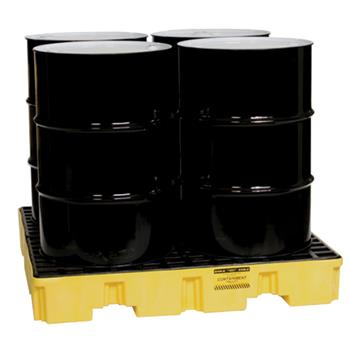 Low Profile 4-Drum Spill Containment Pallet