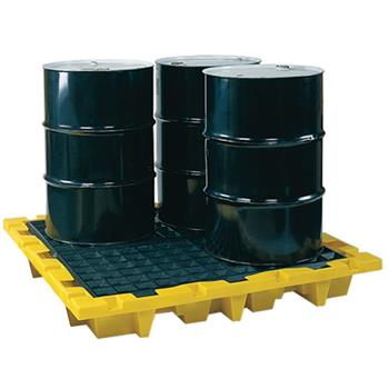 Nestable 4-Drum Spill Containment Pallet