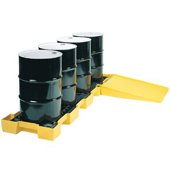 Inline 4-Drum Spill Containment Pallet (Ramp not Included)
