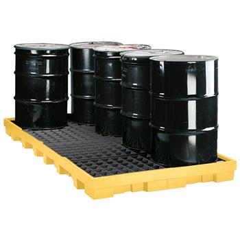 Low Profile 8-Drum Spill Containment Pallet