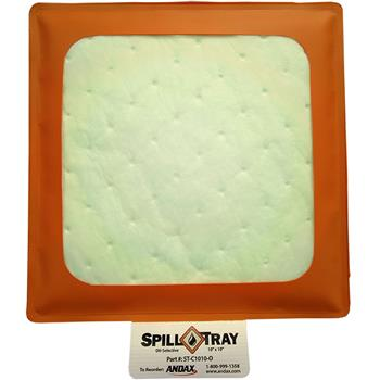 "Reusable Oil-Selective Absorbent Drip Pad 10"" x 10"" Andax Spill Tray™"