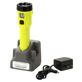 Yellow Streamlight Dualie® Rechargeable LED Flashlight with AC charge cord and one base