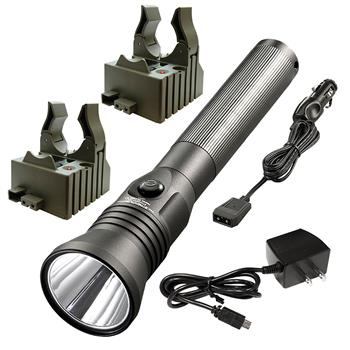 Streamlight Stinger LED HPL Rechargeable Flashlight with AC/DC charge cords and two bases