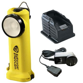 Yellow Streamlight Survivor LED Rechargeable Flashlight with AC Charge Cord and 1 Base