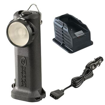Black Streamlight Survivor LED Rechargeable Flashlight with DC Charge Cord and 1 Base