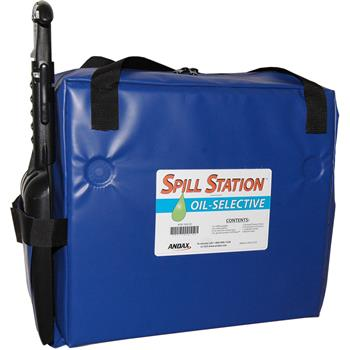 Andax Spill Station™ Oil-Selective Emergency Spill Kit
