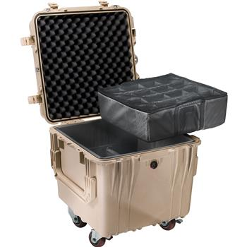 Desert Tan Pelican 0340 Cube Case with Padded Dividers