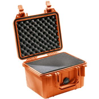 Orange Pelican 1300 Case with Foam